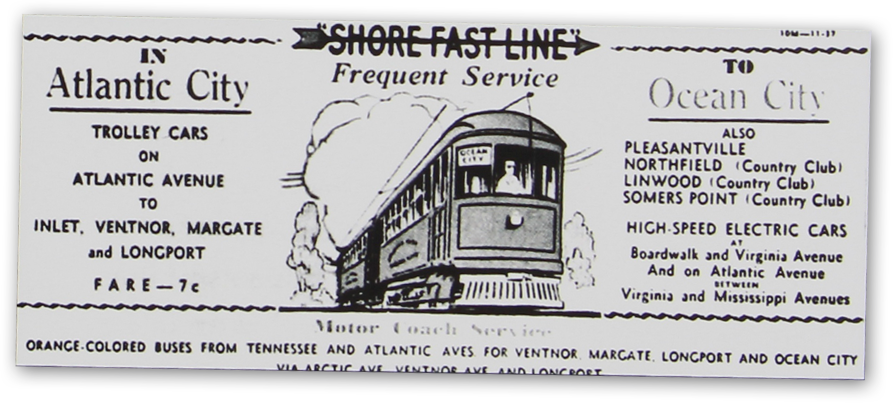Shore Fast Line Trolley Ticket