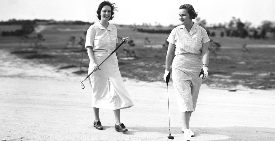 Two women playing golf at ACCC