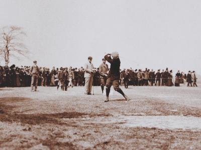 Harry Vardon Exhibition at Atlantic City Country Club, circa 1900