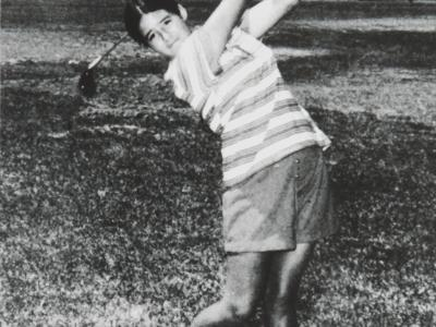 17 year old Nancy Lopez at 1975 Women's Open held at Atlantic City Country Club