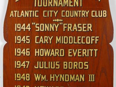 "James ""Sonny"" Fraser Tournament Winners Plaque"