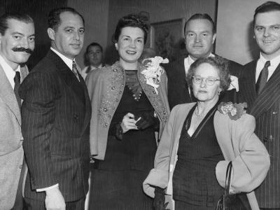 Jerry Colonna, Leo, Madolin, Bob Hope, Sonny and Millie, Leo & Sonny's mother