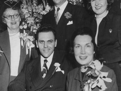 Leo, Sonny, their wives and mother Millie
