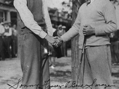 Young Sonny Fraser and Gene Sarazen
