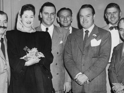 "James ""Sonny"" Fraser with wife Madolin and good friend Bob Hope"