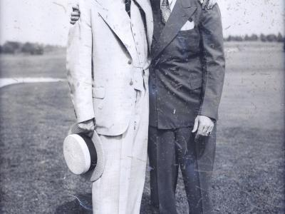"James ""Sonny"" Fraser with Paul McNutt, Governor of Indiana, 1933-1937"