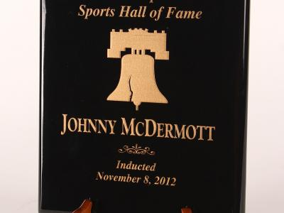 John J. McDermott Plaque - Philadelphia Sports Hall of Fame Induction