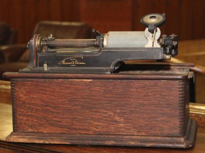 Antique phonograph used at AC Country Club