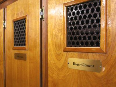 Roger Clemens Locker at Atlantic City Country Club