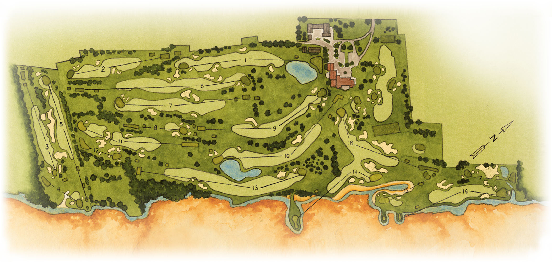 Atlantic City Golf >> Course Layout Atlantic City Country Club